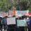 Marcha del Pueblo Creyente de Simojovel y parroquias de región norte.