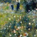 'Mujer con sombrilla en jardín', de Renoir.
