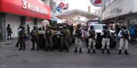Seguridad municipal, estatal y nacional resguardan foco rojo en el centro de la capital chiapaneca