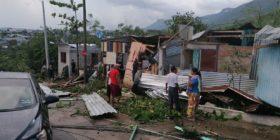 Tornado se forma en Tuxtla Gutiérrez y deja 80 viviendas afectadas Foto: Protección Civil del Estado