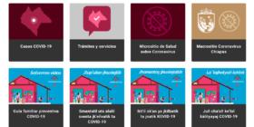 Página web de la Secretaría de Salud del gobierno de Chiapas
