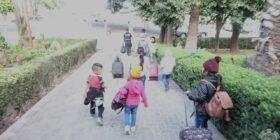 Niños rescatados en Puebla. La edad de los cuatro niños y tres niñas está comprendida entre los cinco a seis años.
