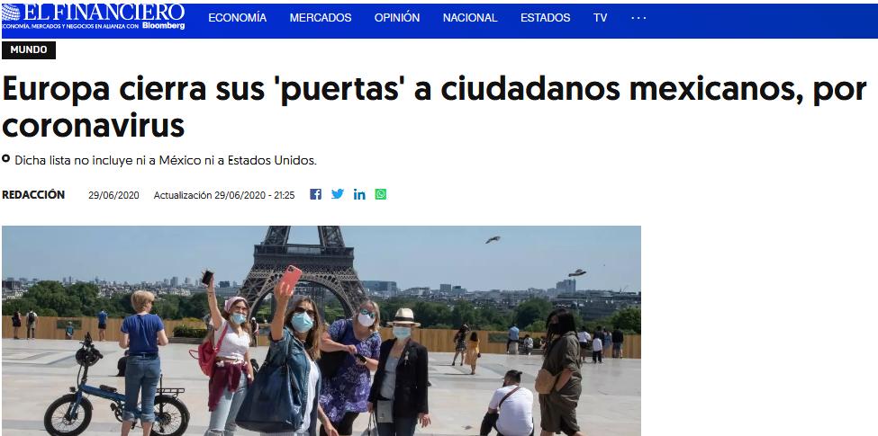 El sueño de muchos mexicanos de viajar a Europa va a tener que esperar este 2020