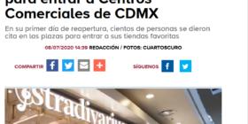 Filas de cientos de personas para entrar a Centros Comerciales de CDMX