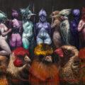 Roberto Fabelo. Mujeres de cien años de soledad. 2007. Oleo sobre lienzo.