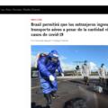 Cuatro meses después, Brasil reabre fronteras aéreas pese a ser el segundo país con más casos de Covid.