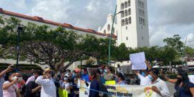 Niños y niñas con cáncer bloquean Tuxtla Gutiérrez ante engaño de autoridades por garantizar abasto de medicamentos oncológicos