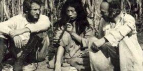 Carl Frey, John Bourne y Giles Healey, considerados como descubridores de Bonampak. Cortesía: Víctor Ortiz.