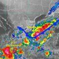 Lluvias, rachas de viento y descargas eléctricas en el noreste, oriente, centro, sur y sureste de la República Mexicana. Cortesía: CONAGUA.