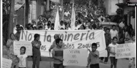 Marcha de zoques en Rayón, el 28 de marzo de 2018. Foto: Saúl Kak.