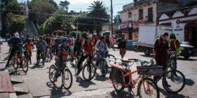 A través de una rodada, charlas y música, celebran el Día Mundial sin Automóvil en San Cristóbal de las Casas Foto: Miguel Alberto