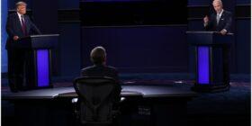 Debate presidencial entre Donald Trump y Joe Biden.  Cortesía