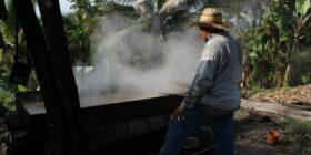 Artesanos paneleros, trabajan hasta 12 horas diarias para aprovechar los días previos al día de muertos, en el que tienen sus mejores ventas. Foto: Daladiel Jiménez
