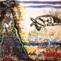 Zaida Del Rio, Mujer fabulosa, 2012, Acuarela sobre papel grueso, 40.6 x 53 cm.