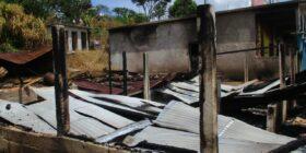 Ataques armados de la ORCAO a comunidades zapatistas en Moisés Gandhi. Foto: CDH Frayba