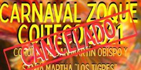 """La mesa directiva y organizadores del Cohuina San Martín Obispo y Santa Martha """"Los Tigres"""" en coordinación con el Cohuina de San Miguel Arcángel """"Los Monitos""""  no serán partícipes de la celebración anual del Carnaval Zoque Coiteco. Imagen: Cortesía."""