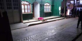 Asesinan a balazos a una mujer frente a Banco Azteca. Imagen: Cortesía.