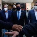 El gobernador de Tamaulipas, Francisco García Cabeza de Vaca, se presentó a la Cámara de Diputados para que le informarán del juicio de procedencia que la FGR solicitó por la comisión de posibles delitos, como el de delincuencia organizada.