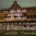 Protesta en Palacio Nacional Foto: Ernesto Rosaslanda
