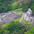 Vista aérea de la Zona arqueológica de Palenque. Cortesía: SECTUR