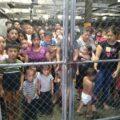Mujeres migrantes detenidas en el albergue
