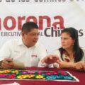 Reunión entre Ciro Sales y Manuela Obrador.