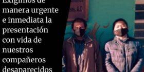 Lázaro Sánchez Gutiérrez y Victórico Gálvez Pérez, defensores de derechos humanos privados de manera arbitraria de la libertad. Cortesía: Frayba.