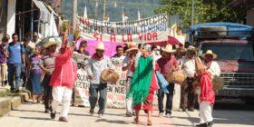Marcha de los pueblos zoques contra los megaproyectos, Cortesía: Facebook Pueblo Zoque Defensa del Territorio