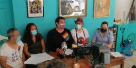 Integrantes de la Red por la Inclusión de la Diversidad Sexual en Chiapas y Coalición Mexicana LGBTTTI+ Foto: A.S.