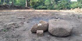 Destrucción de zona arqueológica de Izapa. Foto: Cortesía