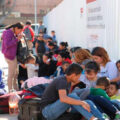 Migrantes hondureños llegan a Tijuana. Cortesía: Arcadia Foundation