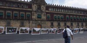 Exposición fotográfica frente al Palacio Nacional. Cortesía: Saúl Kak/ Facebook