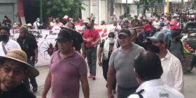 Marcha Nacional de docentes en Tuxtla Gutiérrez. Imagen: Cortesía.