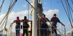 Visitarán al menos 30 países de Europa, partieron de un puerto mexicano, calculan que en la segunda mitad de junio estará frente a las costas europeas. Cortesía: Enlace Zapatista.