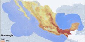 Riqueza de especies amenazadas y en peligro de extinción en México. Las especies se distribuyen formando patrones geográficos y conocer estos patrones es de suma utilidad para la toma de decisiones sobre la conservación de estas especies. Cortesía: UNAM