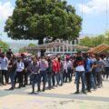 Normalistas y docentes inician plantón para exigir liberación de estudiantes Foto: Escuela Normal Rural Mactumactzá Fecsm