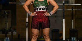 Aremi Fuentes Zavala, atleta de halterofilia. Cortesía: Arem Fuentes/Facebook