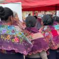 Mujeres de Zinacantán parciparon masivamente en la jornada electoral. Foto: Ángeles Mariscal