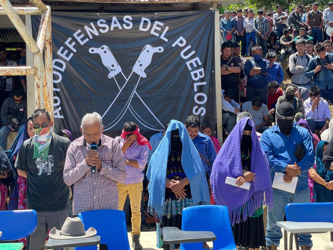 Miles de indígenas mostraron respaldo a autodefensas de Pantelhó, Chiapas