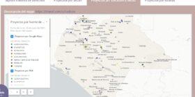 """Mapa """"proyectos por ubicación y sector"""" https://ipyucc.com/; identifica la ubicación de cada proyecto, así como el sector al que pertenece: agroindustrial, energético, extractivo, inmobiliario, obras y servicios públicos, residuos y turismo. Si se encuentran en una comunidad o localidad."""