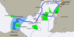 En un territorio que alberga la mancha selvática más grande de América del Norte y el segundo acuífero subterráneo del país se quiere implementar el Proyecto de desarrollo integral Tren Maya. Cortesía: Ana Esther Ceceña/Geopolitica