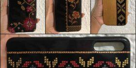 Crean protectores para celular con pintura artesanal inspirado en bordados tseltales