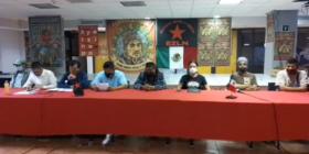 Conferencia de prensa con integrantes de comunidades pertenecientes a la Red Nacional de Resistencia Civil. Cortesía: Red Nacional de Resistencia Civil.