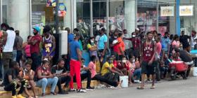 Migrantes, sin medios para subsistencia en Tapachula. Foto: Ángeles Mariscal