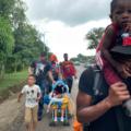 La cuarta caravana migrante que intentó salir de Tapachula. Foto: Ángeles Mariscal
