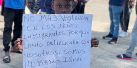 Niños y niñas migrantes, las víctimas de las políticas de los países de paso y destino. Foto: Ángeles Mariscal