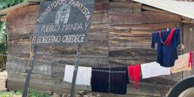 Xuxch´en, Aldama, el pueblo de Domingo, el zapatista asesinado por civiles armados de Chenalhó. Foto: Ángeles Mariscal