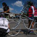 Acción del colectivo Bici Blanca Jalisco por Carolina, víctima de un atropellamiento vial en el estado durante el 2020. Fotografía Ximena Torres