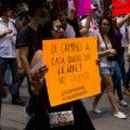 La preocupación por el estar segura fue el principal motor de movilización en esta marcha en el caso de Mara. Foto: Joselin Zamora.