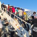 Retorno de personas migrantes originarias de Haití. Cortesía: INM